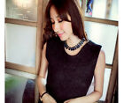 Hot sale  Metal Mixed Style Bib Chunky statement Necklace UK FO