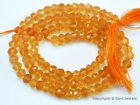 "Micro Faceted Citrine 3.5mm/4.5mm Rondelle Beads 14.5"" str (Select-a-Size) A++"