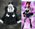 H-069 M/L/XL/XXL Fairy Tail Erza Maid schwarz Cosplay Kleid dress Kostüm costume