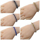 Colorful Gold Silver Plated Crystal Chain Bracelet women party wedding Jewelry