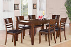 Lynfield 7 Pieces dining table set for 6-Table with Leaf and 6 kitchen chairs