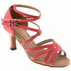 TPS High Quality Coral Leather Latin Ballroom Salsa Custom-made Dance Shoes D985