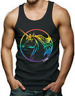 Unicorn Rainbow - Artistic Men's Tank Top T-shirt