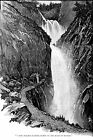 Sidney Paget drawing of Sherlock Holmes at Reichenbach Falls 1893 multiple sizes