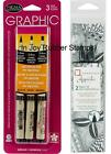 Sakura Pigma Graphic or Zentangle Black Pens Waterproof Fade Resistant
