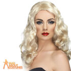 Ladies Glamourous Wig Blonde Long Wavy Fancy Dress Costume Accessory New