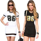 TOP SEXY Women's Short Sleeve Bodycon Summer Casual Party Short Tight Mini Dress