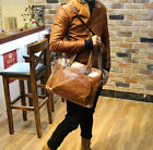 Men's Leather Hand bag 14inch  Messenger Briefcase business shoulder Laptop Bags