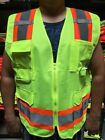 Внешний вид - Surveyor Solid Lime Two Tones Safety Vest , ANSI/ ISEA 107-2015