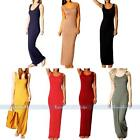2015 New Womens Summer Sexy Jersey Racer Back Casual Long Maxi Party Dress