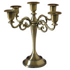 Retro Home Wedding Decoration Metal Crafts Alloy Candle Holder Candelabra Stand