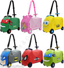 Ride On Suitcase Toy Box Travel Case Luggage Vrum Spiderman Batman Princess