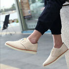 Mens Lace-up Breathable Casual Leather Shoes Leather Sandals Hollow Chic UKFO