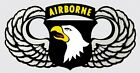 U.S. Army 101st  Airborne Division With Wings Wall Vinyl Decal Sticker Military