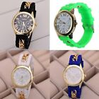 Fashion Women Geneva Chain Silicone Jelly Gel Quartz Casual Sports Wrist Watch