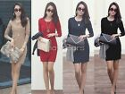 Fashion Women Elegant Sexy Long Sleeve Slim OL Casual Mini Dress W3730 FOZ
