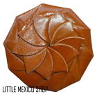 WOMENS FLOWER Coin Purse Wallet MEXICAN Leather Clutch TAN BLACK BROWN BURGUNDY