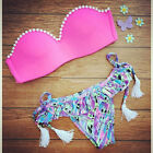 NEW WOMEN'S SWIMWEAR 2017 SEXY BIKINI TOP BOTTOM SET COLORFUL BRAZILIAN CUT USA