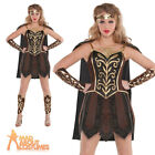 Adult Warrior Princess Costume Ladies Roman Centurion Warrior Fancy Dress Outfit