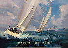 Racing off Ryde Isle of Wight -  repro vintage railway travel poster in 4 sizes