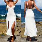 Women Summer  Maxi Evening Party Dress Beach Dresses Clubwear Chiffon Dress