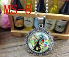 HOT Silver Tree of Life Woodland Jewelry Necklace Glass Dome Pendant Necklace