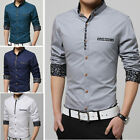 TAT259 New Fashion Men's Luxury Casual Slim Fit Stylish Dress Shirts 5 Color