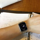 Stainless Steel Mesh Milanese Watch Band Strap + Adapter For Apple Watch 38 42mm