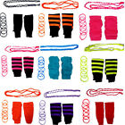 NEON LEGWARMERS BEADS NECKLACE BANGLES FOR TUTU 1980S FANCY DRESS COSTUME