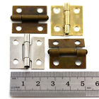 PLATED HINGES 25 x 23mm CIGAR BOX LID DOLLHOUSE ANTIQUE JEWELLERY HINGES