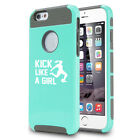 For iPhone X SE 5 5s 6 6s 7 8 Plus Shockproof Hard Case Kick Like A Girl Soccer