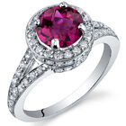 Majestic Sensation 1.75 cts Ruby Ring Sterling Silver Size 5 to 9