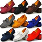 Euro Size 38-45 Suede Leather Mens Driving Moccasin Loafer Shoes & Free Cufflink
