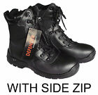 NEW MILITARY PATROL BLACK LEATHER COMBAT BOOTS SIZE 6 7 8 9 10 11 12 13  RRP £50