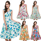 DISCOUNT~New Vintage Rockabilly Flowers Retro Swing 50s 60s Pinup Cocktail Dress