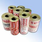 500/1000 Self Adhesive Warning Label Rolls