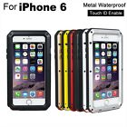 Metal Waterproof Phone Case (Touch ID Enable) for 4.7 inch iPhone 6 Multi Color