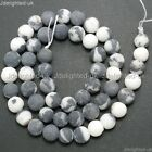 Natural Matte Frosted Gemstone Round Loose Beads 4mm 6mm 8mm 10mm 12mm 15
