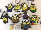 MINIONS MOVIE 2D KEYCHAIN - CHOOSE DESIGN BRAND NEW BOB, STUART OR KEVIN