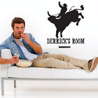 Custom Personalized Name and Cowboy Wall Decal Sticker - CowboyCust01