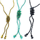 Long Crystal Chain Great Gatsby Necklace Tassel Vintage Fashion Charm Pendant