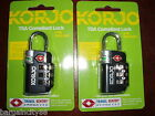 TSA Approved Combination Lock PadLock Locker Locks Suitcase Luggage Bag Korjo
