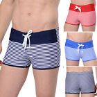 Sexy Mens Striped Swimwear Beachwear Boxers Swimming Bathing Shorts Pants Trunks