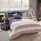Lenox Pink Duvet set by American Freshman set includes pillow cases, USA Star...
