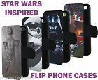 Star Wars Inspired Flip Phone Cover Case Hans Frozen Darth Vader Boba fett £8.99 GBP