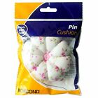 KORBOND PIN CUSHION FOR PINS AND NEEDLES SEWING ACCESSORIES FLORAL DESIGN NEW