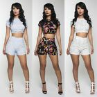 Womens Lady Floral Cocktail Party Club Bodycon Summer Jumpsuit Short Rompers Set