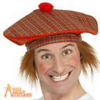 Adult Deluxe Tartan Tam-O-Shanter Hat with Hair Scottish Fancy Dress Accessory