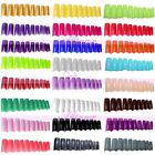 French False Nail Art Artificial Half Fake Tip Acrylic Gel DIY Decoration 500pcs