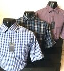 Mens Tom Hagan Short Sleeve Check Shirt With Pocket Summer Polycotton M L Xl Xxl